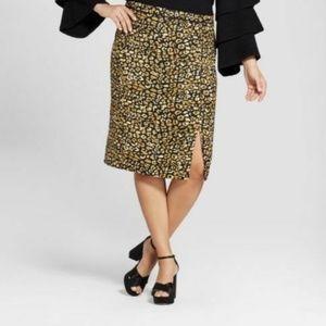 Who What Wear Pencil skirt womens 20W Cheetah new